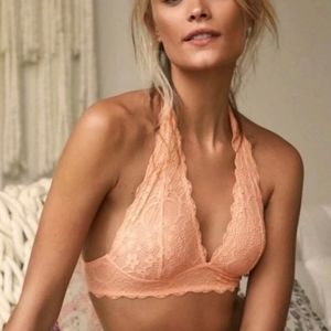 NWT Free People Galloon Lace Halter Bralette